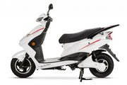 FALCON ELECTRIC MOPED – WHITE-electricbikescootercar.co.uk
